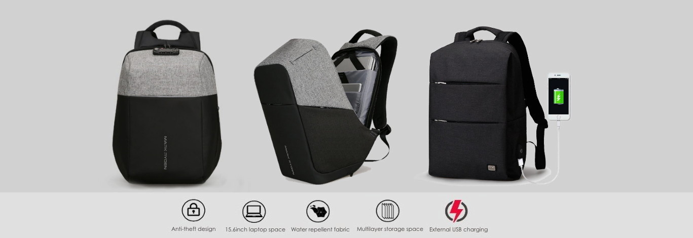 Anti-theft backpacks for 15.6 inch laptop